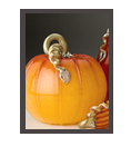 Handblown Glass Pumpkin