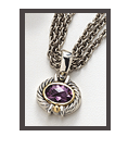 Amethyst 3 Chain Necklace