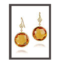 Showstopper Earrings Citrine and Diamonds